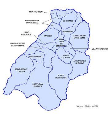 Canton de Saint Jean de Maurienne